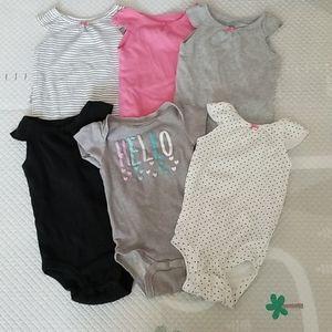 EUC Baby Girl Onesie Short Sleeveless Bundle Set